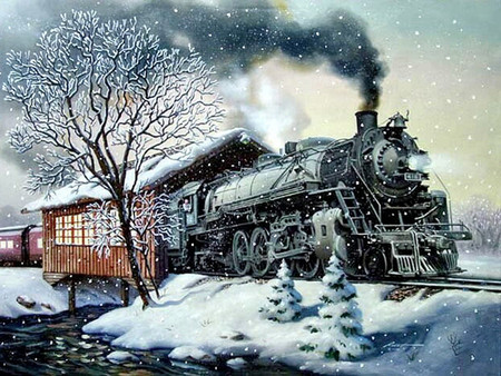 Snow Train F5mp Winter Nature Background Wallpapers On Desktop Nexus Image 647221
