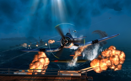 war plane - fire, war, plane, aircraft, airplane, fight