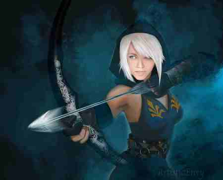 Ashe League Of Legends - ashe league of legends, hot, fantasy, girl