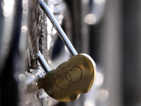 Two hearts,one Love - photography, love, lock, hearts, abstract