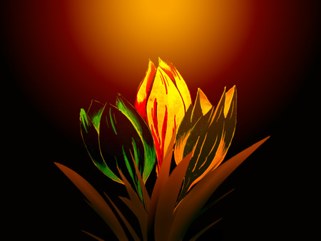 Larisa's Tulips - tulips, neon glow, colorful, pleasure, flowers, friendship, goodwill, bright