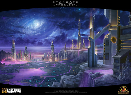 Ancient City - scifi, worlds, ancient city, city, atlantis, stargate, stargate worlds, science fiction