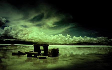 dark harmony - dark, harmony, nature, sky