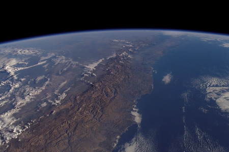 Chile From Space. - chile, south america, earth