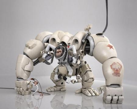 Monkey Robot  - abstract, robot, monkey, 3d