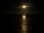 Moon at night on the beach