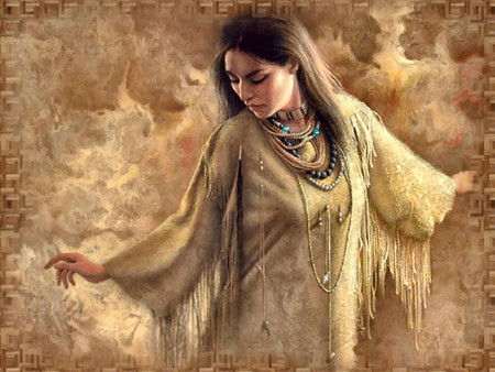 Native American Princess F+mp - art, indian, bogle, native american, woman, painting, beauty, portrait, lady, lee bogle, princess