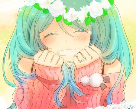 Super happy anime girl