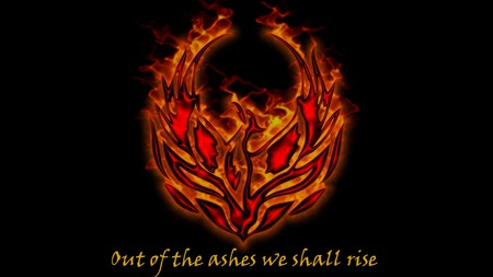 Out of the ashes we shall rise - flames, burning, out, courage, we, hope, rise, spiritual, ashes, fantasy, shall, phoenix, ressurection, the, of