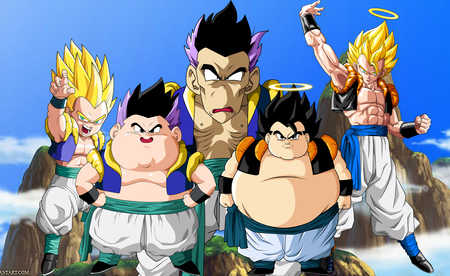 Fusion - fail, gotenks, ball, gogeta, dragonballz, dragon, fat, ssj