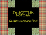Scottish NOT Irish