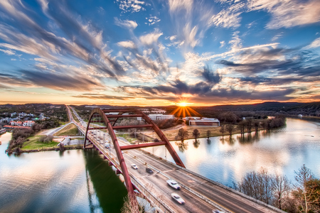 Pennybacker Bridge  (HDR) - beautiful, effect, bridge, dynamic