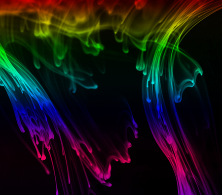 Abstract - rainbows, colours, abstract, wallpaper
