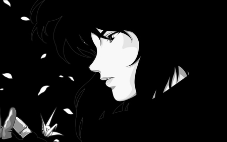 Black And White Anime Ghost In The Shell Anime Background