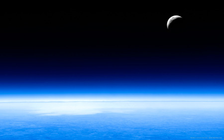 Lunaria - crescent, high resolution, moon, beautiful, earth, widescreen, space