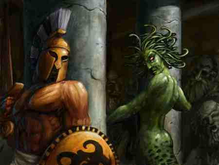 Perseus And Medusa Greek Mythology Fantasy Abstract