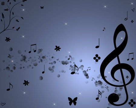 Sweet Melody - melody, abstract, music notes, music