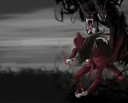 Alucard and his dogs - hellsing, alucard