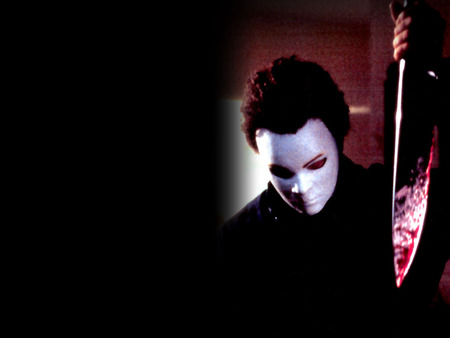Michael Myers - michael myers, halloween, horror, blood, mask