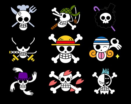 Straw Hats Crew Jolly Rogers Other Anime Background