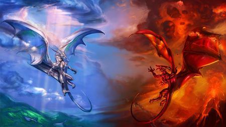 good vs evil fantasy abstract background wallpapers on desktop