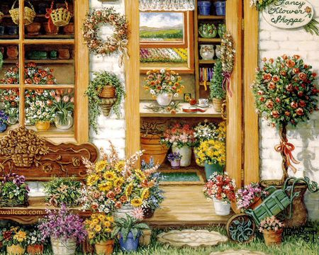 Janet Kruskamp - art, wreath, janet kruskamp, christmas, painting, flower