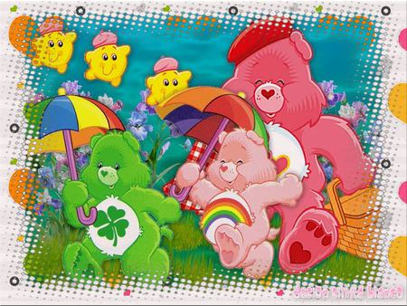 GOOD LUCK BEAR - carebears, stars, green, four, color, luck