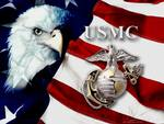 US Marines Flag with American Eagle