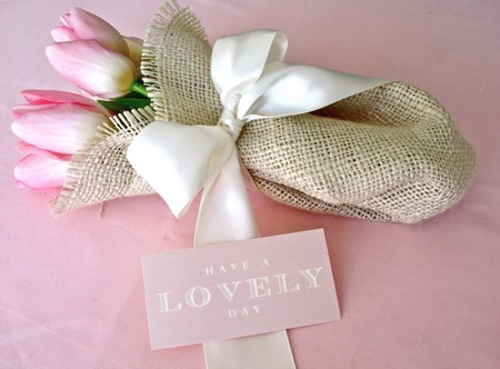 ♥ For All My Best Friends ♥ - flowers, tulips, gift, pink