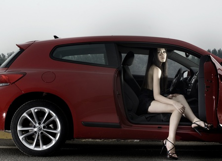 Hot VW - sexy, woman, lady, hatchback, girl, vw, hot, volkswagen