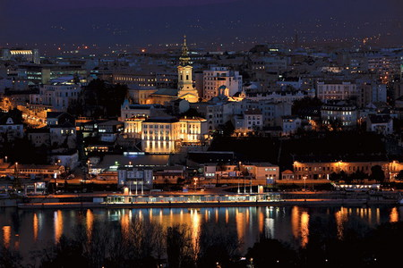 Belgrade - serbia, city, belgrade, night