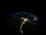 Egypt as seen from space at night..photographed by Nasa