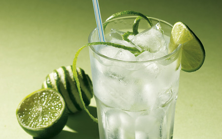 Refreshing cocktail - cocktail, refreshing, relax, yellow, lime, fruit, glass, photography, citrus, green, summer, ice, drink, limon