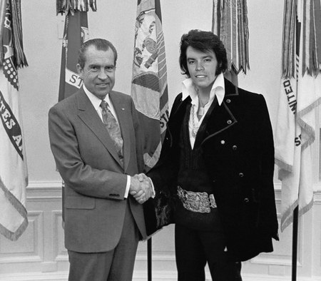 Nixon meets Elvis - musician, singer, politics, men