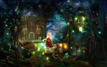 ANOTHER FAIRYTALE - forest, fairytale, castle, fairy, female