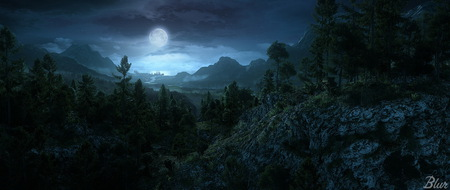 Moonlight 3d And Cg Amp Abstract Background Wallpapers On