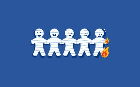 burn - fire, burn, paper, cartoon