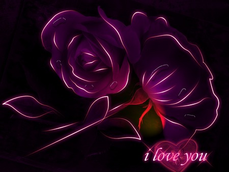 I Love You - 3d, special, love, flowers, darling, you,