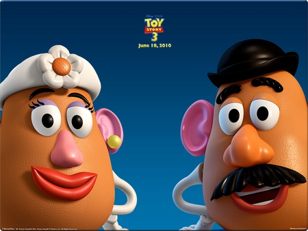MR AND MRS POTATO HEAD - movie, mrs, potato, three, story, mr