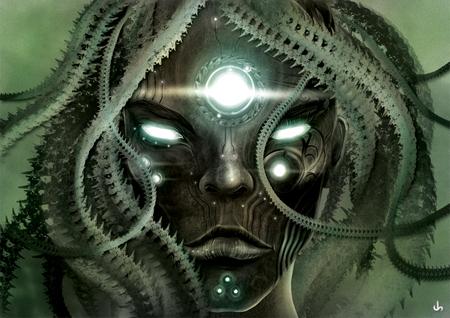 Medusa - dark, fantasy, a, medusa