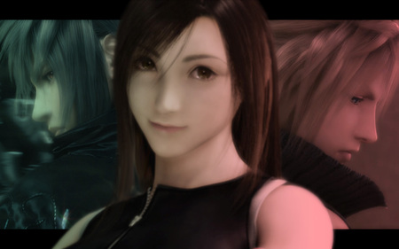 Tifa Lockhart - noctis lucis caelum, noctis, cg, video games, anime, final fantasy, long hair, tifa lockhart, black hair, cloud, final fantasy dissidia, smile, brown eyes, FF15, tifa lockheart, cloud strife, Final Fantasy 15, Final Fantasy XV, tifa
