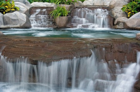 SPA AND RESORT - resort, waterfall, spa, relaxing