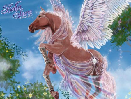 Bella sara nike horses animals background wallpapers on desktop nexus image 679564 - Coloriage bella sara ...