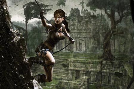 Underworld - tomb raider, video game, underworld, lara croft, fantasy, adventure, girl, female, rain, action