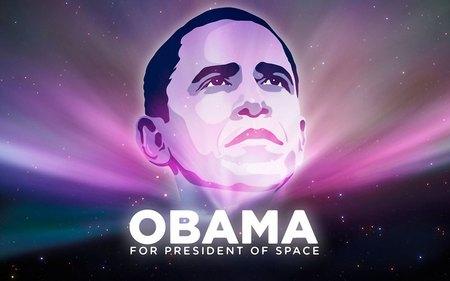 Barack Obama - space, barack obama