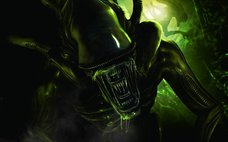 The Alien Warrior Creature - aliens, alien creature, alien, hr giger
