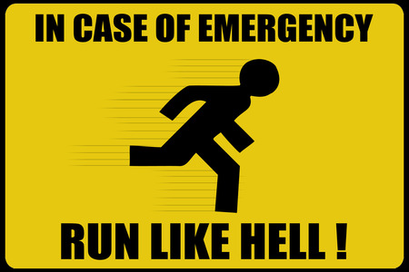 Warning Sign 2 - emergency, yellow, warning, funny, text, hell, sign, warning-sign, warning sign