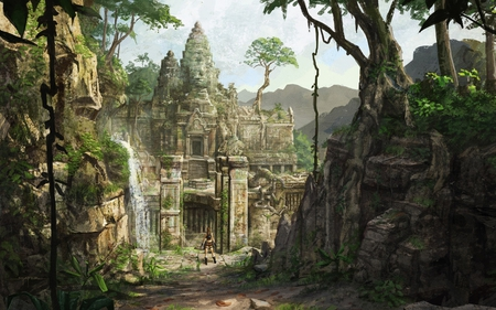 Tomb Raider - tomb raider, jungle, game, croft, laura