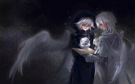 Black And White Angel Other Anime Background Wallpapers On