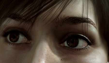 EYE.........!!! - female, hd, cg, eye, video game, playstation, fantasy, face, heavy rain